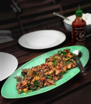 Eggplant with miso sauce