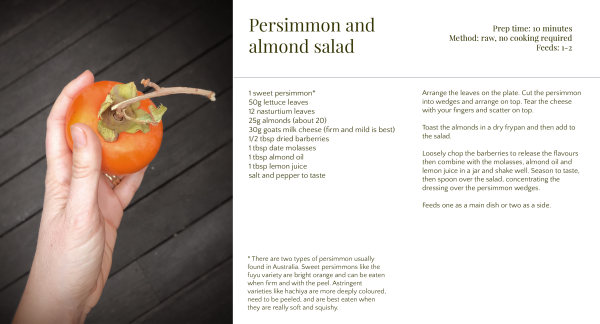 Persimmon salad recipe